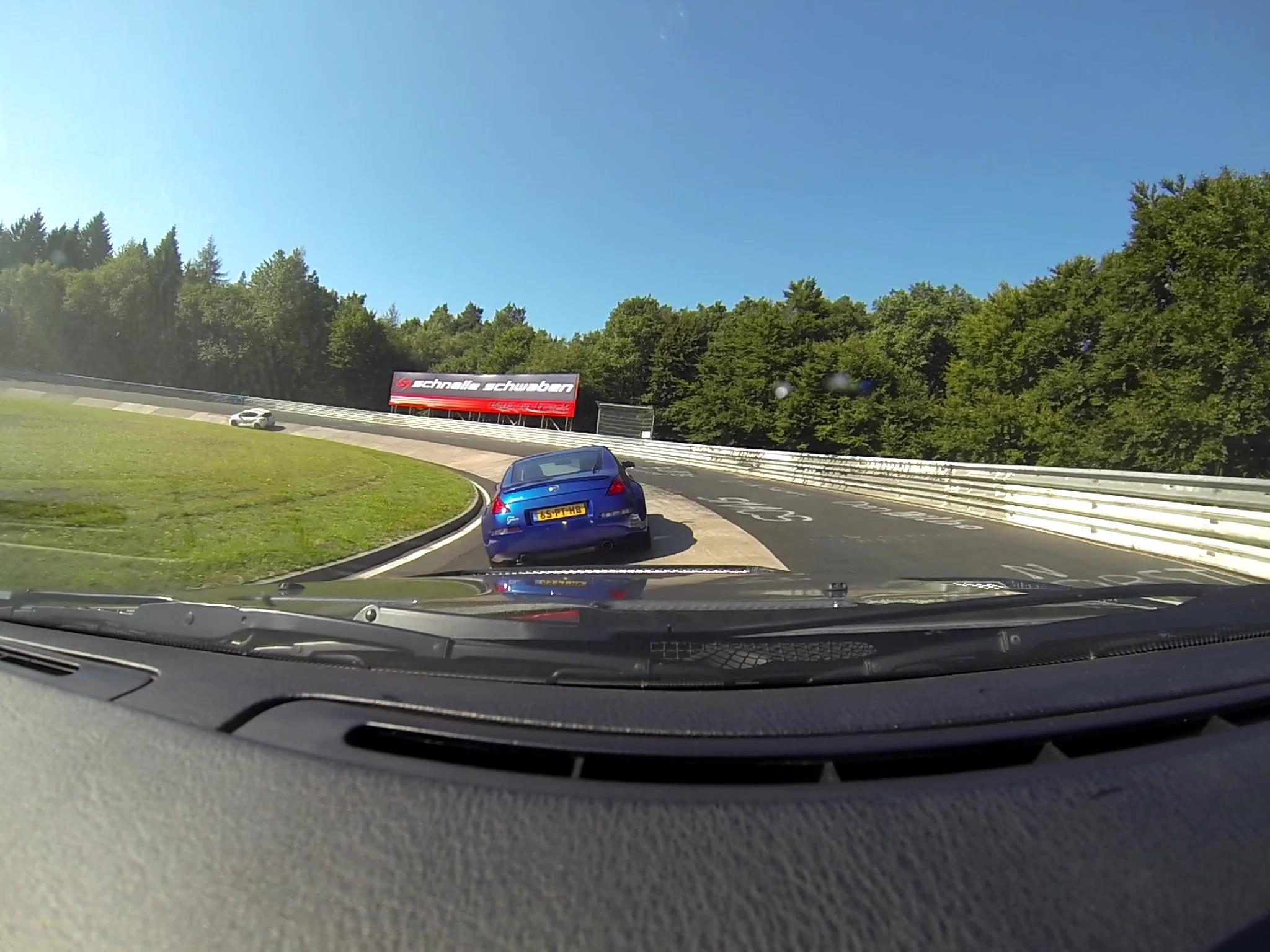 Nissan 350Z op Nordschleife vanuit Nick zijn auto